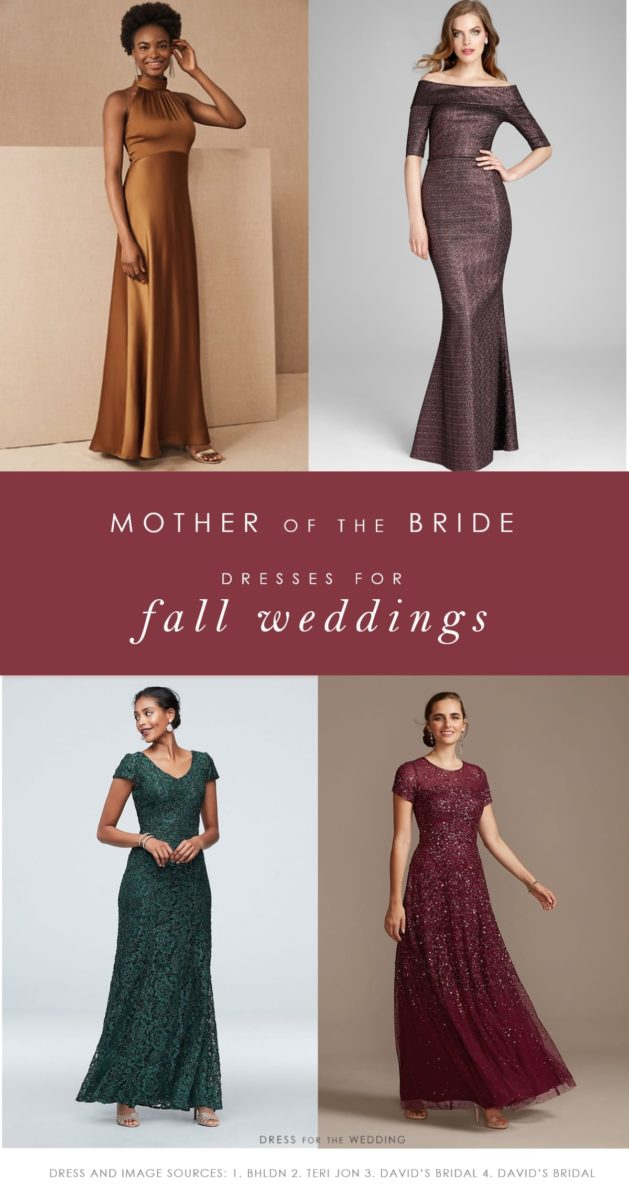 Fall mother of the bride dresses and gowns