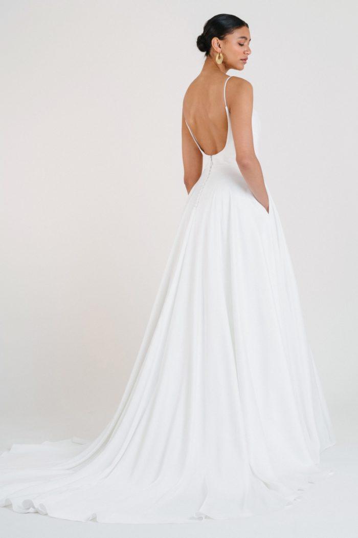 minimalist wedding dress with pockets