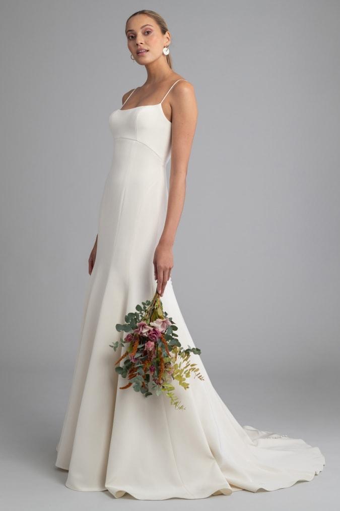 Modern minimalist wedding dress for 2021