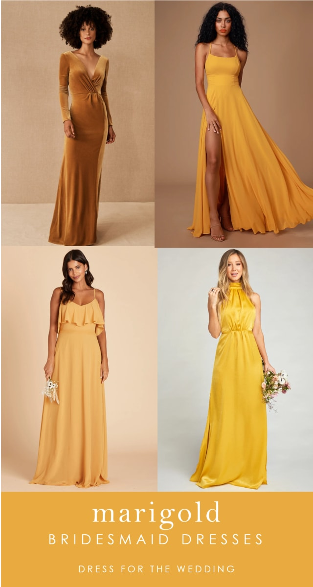 Where to find bridesmaid dresses in goldenrod color