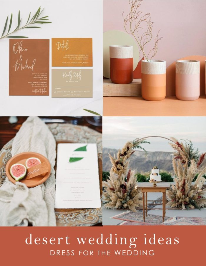 Ideas for a desert wedding theme and color scheme
