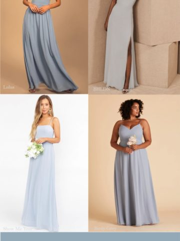 Where to find dusty blue dresses for weddings