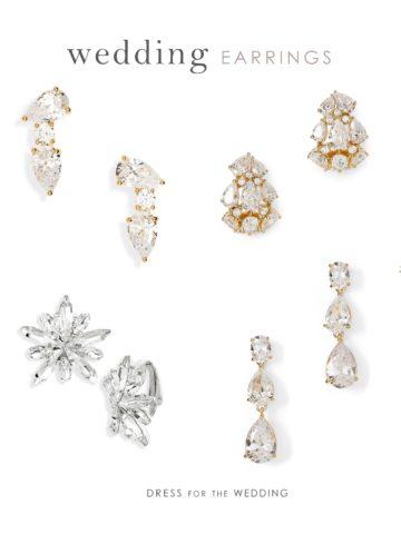 Bridal earrings for weddings