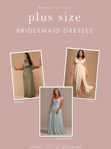 Ideas for shops that carry plus size bridesmaid dresses online